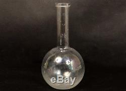 Carafe ancienne eau alcool vin verre soufflé glass XVIIIème siècle