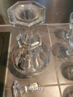 Carafe ancienne en cristal de Baccarat, modèle Harcourt