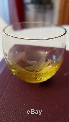 Coffret 6 verres à dégustation ancien cristal de bohême Moser