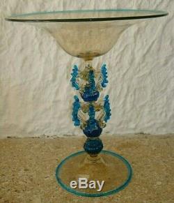Coupe ancienne en verre soufflé, Murano