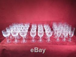 Cristal De Sevres Ancien Superbe Service Taille 36 Verres Flutes Art De La Table