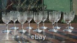 Cristal taillé Baccarat Nancy 10 anciens verres à Porto 11 cm Crystal