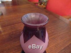 DELATTE NANCY, ancien vase en pate de verre époque 1900