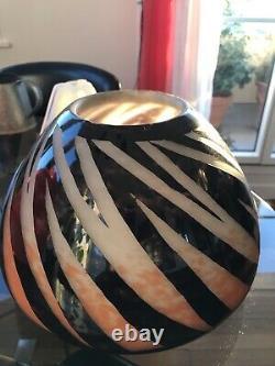 Degue David Gueron Énorme Vase Art Nouveau 1920 Pate Verre Gravé Acide Ancien