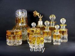 Ensemble 10 pces Parfum Ancien Verre VSL Val saint Lambert Toilette 1930 Top+++