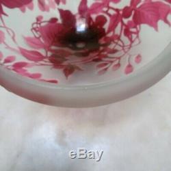 Gallé coupe vase ancien