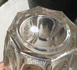 Gobelet Verre Ancien Cristal Moulé Doré Baccarat Mi 19ème Antique Crystal Glass