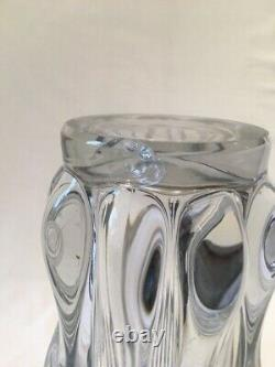 Grand Vase En Cristal Tete De Girafe Non Signee Style Arr Vannes Ancien 50