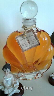Grand flacon ancien, Parfum de bain JARDIN DES THERMES Paris RARE