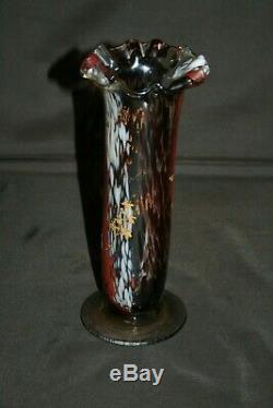 Grand vase ancien en Clichy émaillé rehaussé d'or