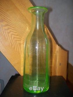 Grande bouteille carafe absinthe ancienne en verre OURALINE 29cm