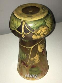 Gros Vase Daum Signé Ancien Authentique