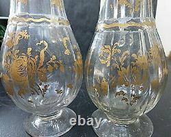 Huilier vinaigrier verre souffle ancien 18 siecle carafon louis xvi