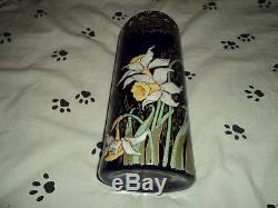 Joli Ancien Vase Legras Emaille Jonquilles