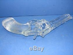 Joli ancien revolver, police python 357, en cristal, Royales de Champagne