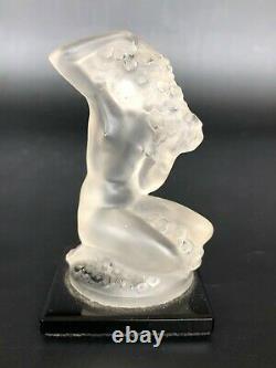 LALIQUE FRANCE ANCIEN SUJET CRISTAL MODELE FLOREAL H 8 cm verre sabino parfum