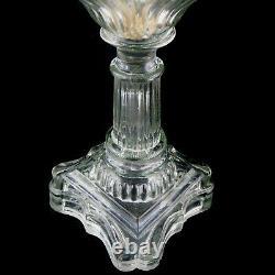 LAMPE A PETROLE Ancienne Cristal Verre victorian/baccarat/saint-louis/oil lamp