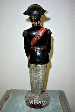 LEGRAS ancienne bouteille émaillé général BOULANGER carafe