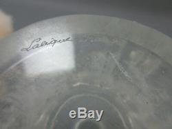 Lalique Cristal Ancien Toilette Poudrier Flacon Parfum Moineaux