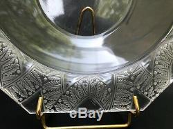 Lalique France Ancien Plat Creux Decors De Feuillage Signé Lalique