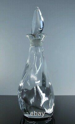 Lalique /art Déco France Ancienne Carafe Cristal Souffle Modelé Flamme Signée