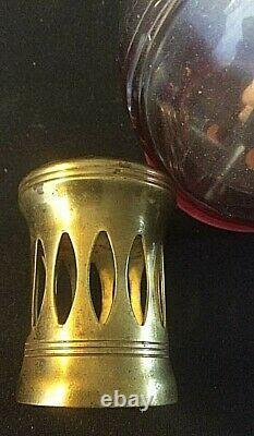 Lampe Berger Baccarat très ancienne vers 1910 /1920 avec son étiquette