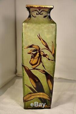 Large Antique Baccarat Art Nouveau Vase Ancien Givre 30 CM