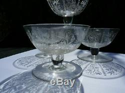 Lot 4 coupes a champagne ancienne cristal Baccarat vintage 1943 1961