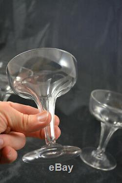 Lot De 3 Coupes A Champagne Anciennes En Cristal De Baccarat