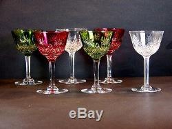Lot Superbe Verre Vin couleur Ancien Cristal Verre Val saint Lambert VSL Top+++
