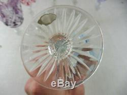 Lot de 6 anciens verres en cristal taillé, de couleur, Saint Louis Baccarat