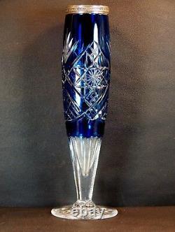 Magnifique Rare Grand Vase Ancien Cristal Verre Taille Val saint Lambert VSL