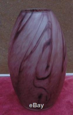Magnifique ancien grand vase pate de verre signé DAUM nancy en creux bon etat
