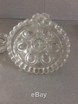 Paire De Bougeoir Cristal Baccarat Hauteur 30cm Ancien