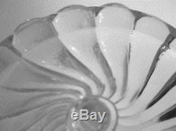 Paire De Bougeoir Cristal Signe Baccarat Modele Bambou Hauteur 23 CM Ancien