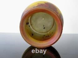Peynaud Ancien vase en verre émaillé. Pate de verre