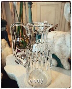 Pichet A Eau Carafe En Cristal ancienne Signée Baccarat Crystal Jug/verre