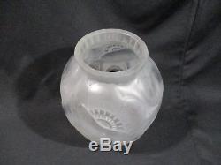 Pierre D'avesn Ancien Vase Verre Art Deco Decor Pavot Glass Vase