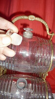 Presentoir Liqueur Cognac Ancien Verre Bronze Cave A Liqueur Old Liquor Cellar