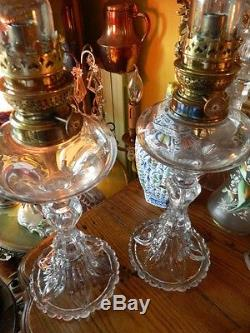 RARE PAIRE DE LAMPES anciennes EN CRISTAL DE BACCARAT tres bel etat