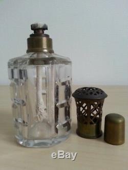 RARE ancien DIFFUSEUR PARFUM FLACON cristal BACCARAT art déco LAMPE BERGER