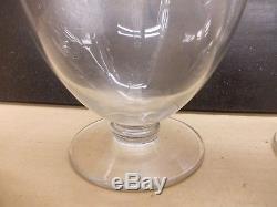 RARE lot de 4 carafes anciennes cristal mousseline Baccarat époque 1916
