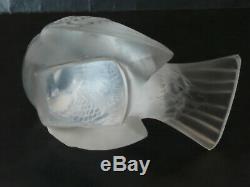 R. LALIQUE édition ancienne moineau créé en 1929 oiseau glass crystal