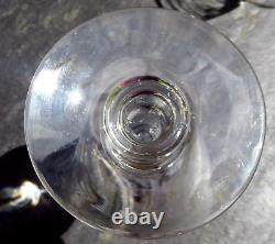 Rare 8 verres anciens à pied monogrammés cristal 2 tailles vin & eau Baccarat