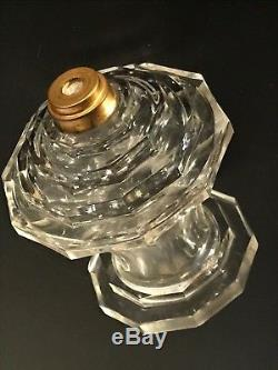 Rare Ancienne Pied Lampe Lusac Paris Berger Cristal Baccarat