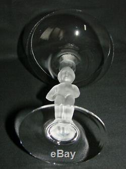 Rare BAYEL ancienne coupe cristal x 5 Manneken Pis Royales de Champagne Cup