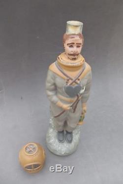 Rare ancienne bouteille Scaphandrier avec son bouchon Legras 1890