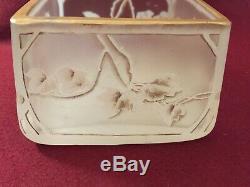 Rare et ancien vase en pâte de verre DAUM non signé