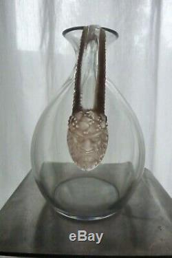 René Lalique Carafe En Cristal Ancienne Années 1920