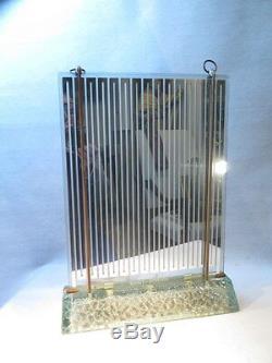 Saint Gobain Ancien Radiateur Lampe Miroir Chauffant En Verre De Style Art Deco